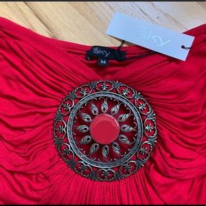 Sky medallion tube top. New with tag